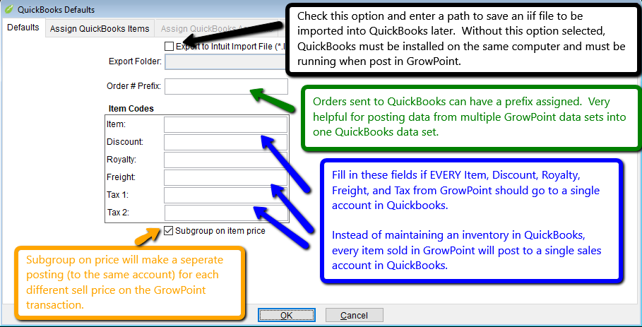 Posting GrowPoint AR to QuickBooks